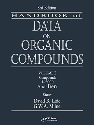 9780849304453: CRC Handbook of Data on Organic Compounds