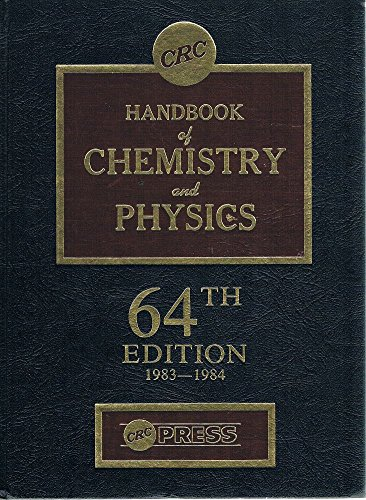 9780849304644: CRC Handbook of Chemistry and Physics 64th Ed. 1983-1984