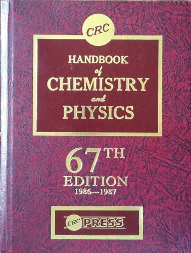 9780849304675: Handbook of Chemistry and Physics, 67th Edition