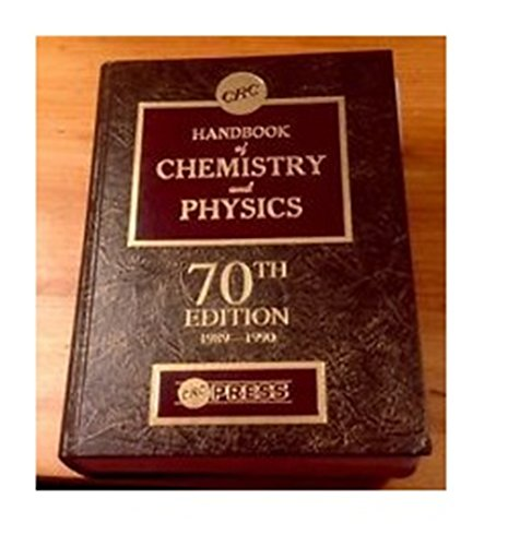 Hdbk of Chemistry & Physics 70th Edition: David R.;Lide, David