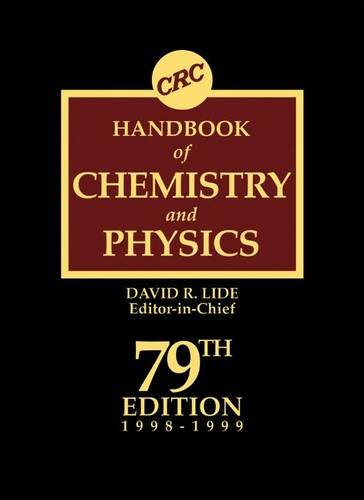9780849304798: CRC Handbook of Chemistry and Physics