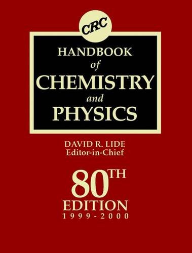 9780849304804: CRC Handbook of Chemistry and Physics 80th Edition