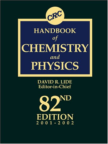 9780849304828: CRC Handbook of Chemistry and Physics, 82nd Edition