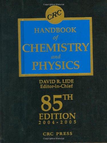 9780849304859: CRC Handbook Chemistry and Physics, 85th Edition