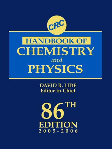 9780849304866: CRC Handbook of Chemistry and Physics, 86th Edition