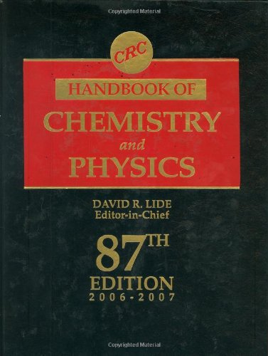 9780849304873: CRC Handbook of Chemistry and Physics, 87th Edition: 87th Ddition: 2006 - 2007