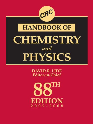 9780849304880: CRC Handbook of Chemistry and Physics, 88th Edition: A Ready-reference Book of Chemical and Physical Data