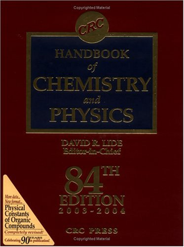 9780849305955: CRC Handbook of Chemistry and Physics/Special Student Edition 1993-1994