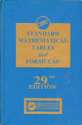 9780849306297: CRC Standard Mathematical Tables and Formulae, 29th Edition (Discrete Mathematics and Its Applications)