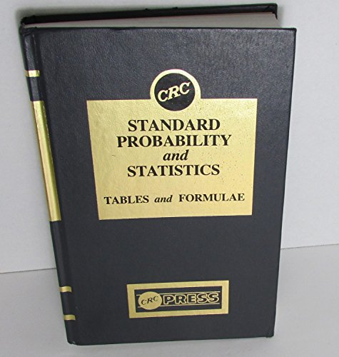 9780849306808: CRC Standard Probability And Statistics Tables and Formulae