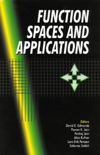 9780849309380: Function Spaces and Applications