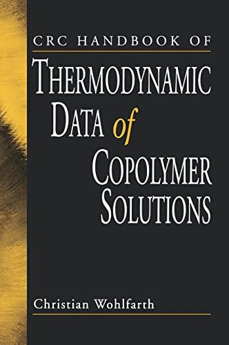 9780849310744: CRC Handbook of Thermodynamic Data of Copolymer Solutions