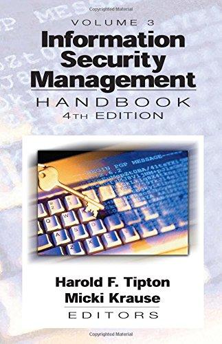 9780849311277: Information Security Management Handbook, Fourth Edition, Volume III