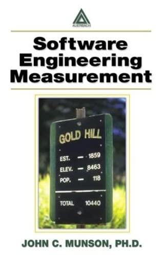 Software Engineering Measurement: Ph.D., John C.