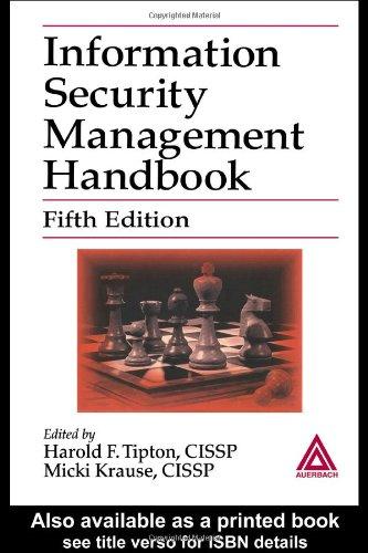 9780849319976: Information Security Management Handbook, Fifth Edition