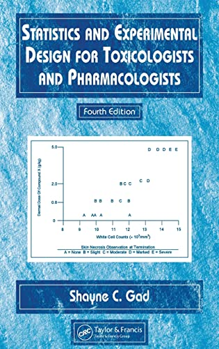 9780849322143: Statistics and Experimental Design for Toxicologists and Pharmacologists, Fourth Edition