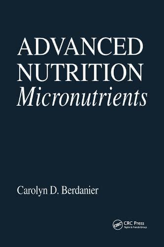 9780849326646: Advanced Nutrition Micronutrients (Modern Nutrition)