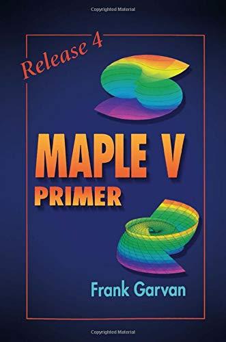9780849326813: The Maple V Primer, Release 4