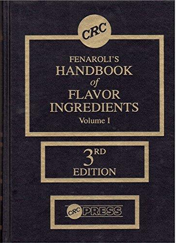 9780849327100: Fenaroli's Handbook of Flavor Ingredients, Volume I, Third Edition