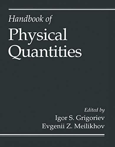9780849328619: Handbook of Physical Quantities