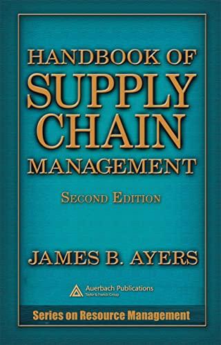 9780849331602: Handbook of Supply Chain Management, Second Edition (Resource Management)