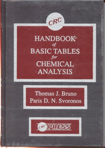 9780849339356: Handbook of Basic Tables for Chemical Analysis