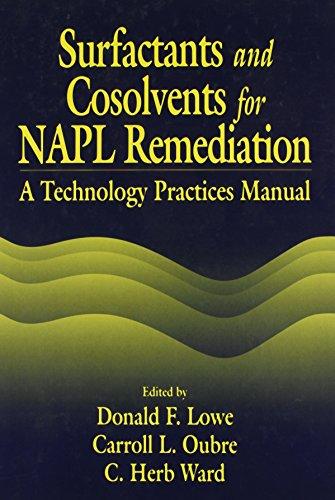 SURFACTANTS AND COSOLVENTS FOR NAPL REMEDIATIONS: LOWE D.F. ET.AL