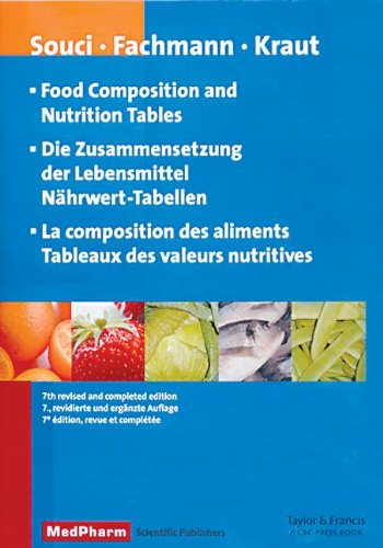 9780849341410: Food Composition and Nutrition Tables, 7th revised and completed edition