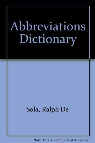 9780849342479: Abbreviations Dictionary