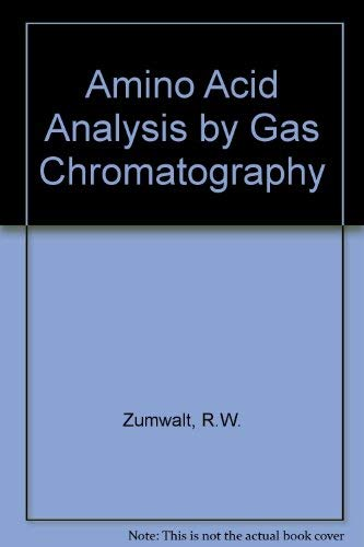 9780849343285: Amino Acid Analy By Gas Chrom Sold As A 3-volume Set Only