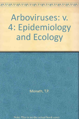 9780849343889: Arboviruses Epidemiology and Ecology - Volume 4