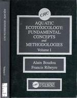 9780849348280: Aquatic Ecotoxicology: Fundamental Concepts and Methodologies, 1