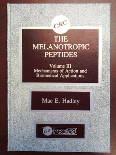9780849352799: 003: Melanotropic Peptides: v. 3