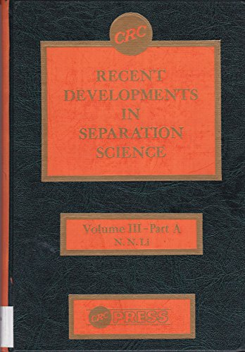 Recent Devs of Separation Sci Part A (Vol 3): n/a