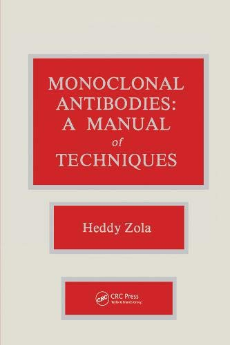 9780849364761: Monoclonal Antibodies: A Manual of Techniques