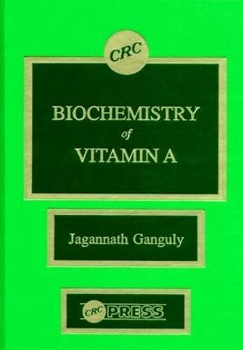 9780849368905: Biochemistry of Vitamin A