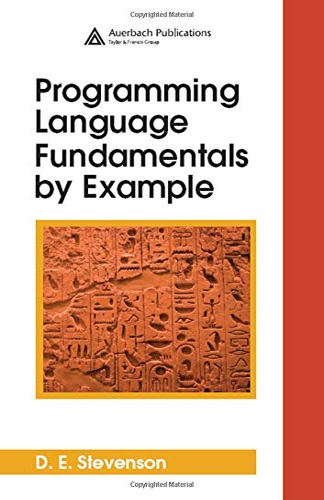 9780849370168: Programming Language Fundamentals by Example