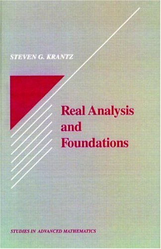 9780849371561: Real Analysis and Foundations