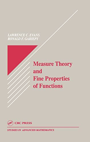 9780849371578: Measure Theory and Fine Properties of Functions (Studies in Advanced Mathematics)