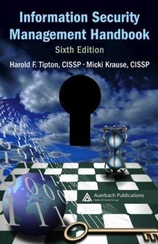 9780849374951: Information Security Management Handbook, 6th Edition