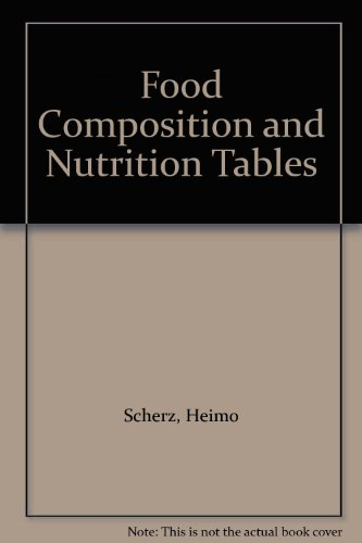 9780849375507: Food Composition and Nutrition Tables