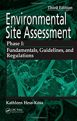 9780849379666: Environmental Site Assessment Phase I: A Basic Guide, Third Edition