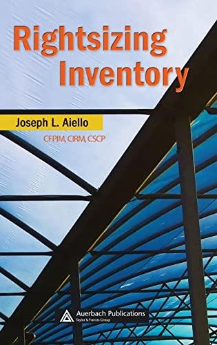 9780849385155: Rightsizing Inventory (Resource Management)