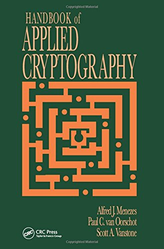 9780849385230: Handbook of Applied Cryptography (Discrete Mathematics and Its Applications)