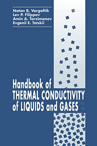 9780849393457: Handbook of Thermal Conductivity of Liquids and Gases