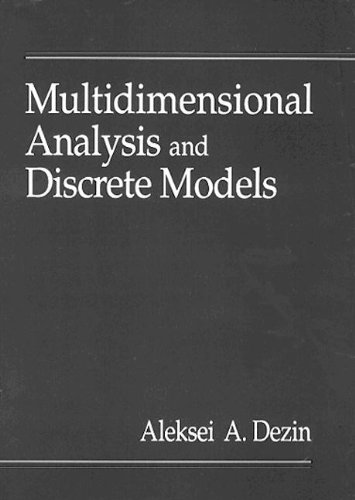 9780849394256: Multidimensional Analysis and Discrete Models