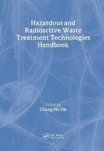 9780849395864: Hazardous and Radioactive Waste Treatment Technologies Handbook (Handbook Series for Mechanical Engineering)