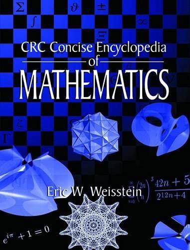 9780849396403: CRC Concise Encyclopedia of Mathematics