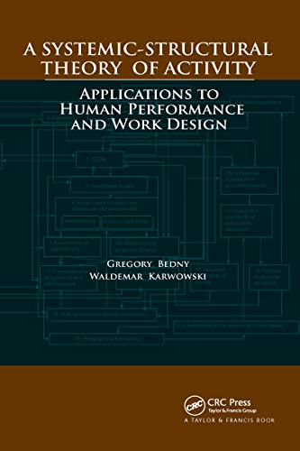 9780849397646: A Systemic-Structural Theory of Activity: Applications to Human Performance and Work Design