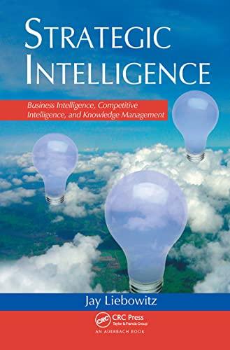 9780849398681: Strategic Intelligence: Business Intelligence, Competitive Intelligence, and Knowledge Management
